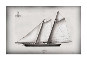America's Cup Yacht 1851 America